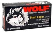WOLF DESIGNS Ammunition 9MM LUGER 115 GRAIN AMMO